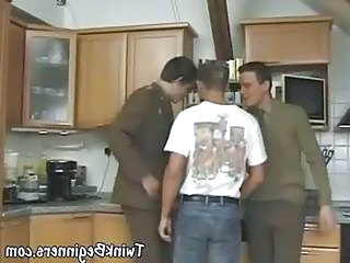 Military Guys In A Hot Threesome Action