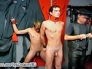 Gay Guys Engaged In Erotic Bondage