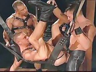 Gay leather guys having intense sex tubes