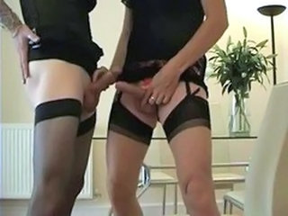 Two hot tranny's getting it on.