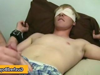 Cory gets his hard dick played with toy