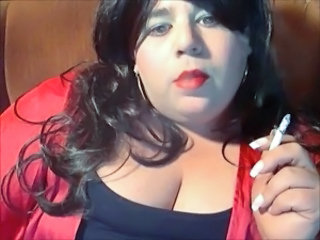BBW Sissy Diane smoking yet again