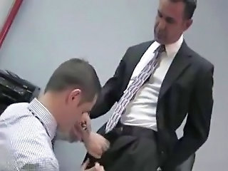 Bareback sex in the office