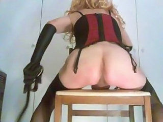 Spanking on chair