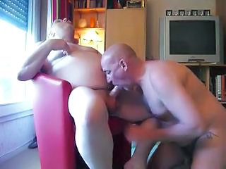 Grandpa In The Armchair Gets His Hard Penis Sucked