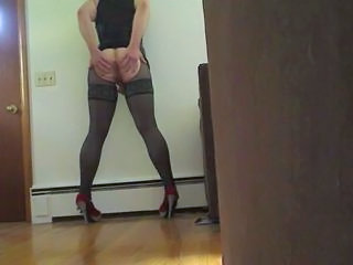 fuck me pumps and lingerie booty shake