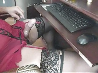 Jerkin Off - In Sexy Lingerie