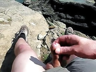 cliff top wank and cumshot