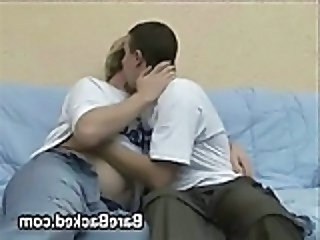 Blonde Dude Fucks Bareback - Gay sex video -