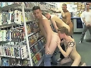 Cock swallowed by gay sex slave in public gangbang sex with brutal men that enjoy bondage sex