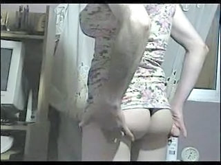Crossdresser with dress and thong Part.1
