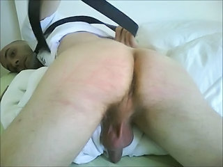 Amateur boy self spanking