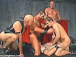 Leather Daddies Gang Banging Brad Benton 03 - Gay sex video -