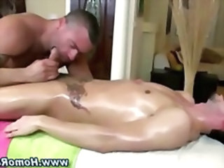 Straight guy cock sucked by gay bear masseuse