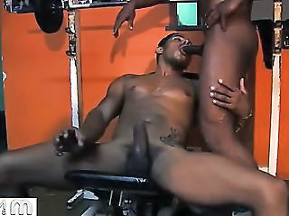 Alone At The Gym, Two Buff Studs Make Good Use Of Their