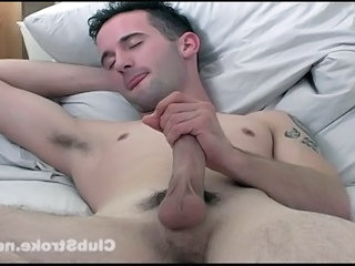 Cj Strokes His Pretty Cock