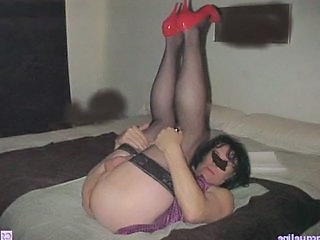 Crossdresser having fun