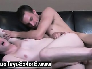 Hot Gay Sex Breaking Off Every So Often To Pump The Hard Shaft,