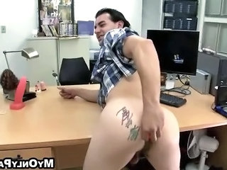 Two Naughty Guys Have Fun In An Office W...
