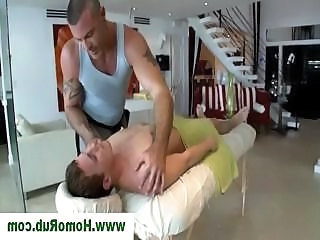 Straight guy getting a gay massage